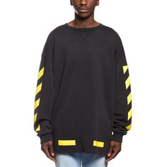 Arrows sweatshirt from the F/W2016-17 Off-White c/o Virgil Abloh collection in black