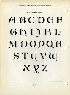 Fred Goudy designed these Lombardic capitals in 1921 and cut them as type in 1929.