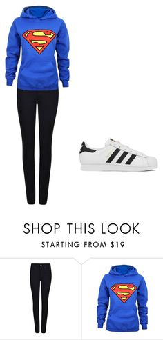 """just a casual day"" by paigebrite on Polyvore featuring Giorgio Armani, adidas, women's clothing, women's fashion, women, female, woman, misses and juniors"