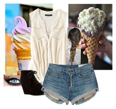 Ice cream by tiarenee-shaw on Polyvore featuring polyvore, fashion, style, American Eagle Outfitters, rag & bone and Rampage