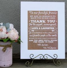 Rustic Burlap Look Tjhank You From The Newleyweds Wedding Sign. Rustic Burlap Look Tjhank You From The Newleyweds Wedding Sign on Tradesy Weddings (formerly Recycled Bride), the world's largest wedding marketplace. Price $15.00...Could You Get it For Less? Click Now to Find Out!