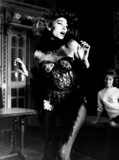 "Actress Anouk Aimée (b. 1932), in Jacques Demy's film, ""Lola,"" 1961."