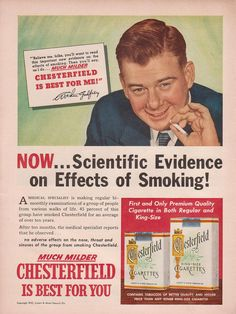 1950s Ads Slogans | Chesterfield Cigarettes - a photo on Flickriver