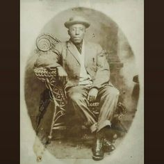 Vintage african american man from Cotton Plant Arkansas
