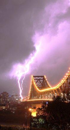 Storm in Brisbane Queensland Australia  (Story Bridge)