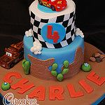 Disney Cars cake by bakerlou1