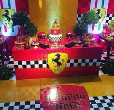 Race Car Birthday, Race Car Party, Disney Cars Birthday, 50th Birthday, Birthday Ideas, Car Themed Parties, Cars Birthday Parties, Ferrari Party, Cupcakes For Boys