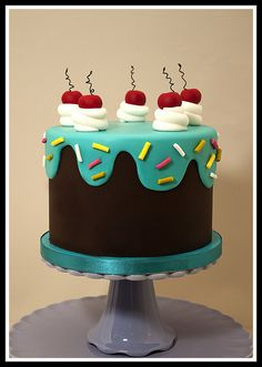 Drippy Icing 50th Birthday Cake by nanefy, via Flickr