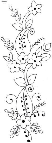 dibujo cenefa de tflores