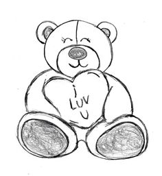 bear teddy drawing valentines dessin valentine drawings facile amour easy sketch draw mignon happy drawingmanuals bears pencil step coeur sketches