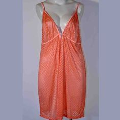 793d36bfb Avenue Body Peach Mesh Sheer Rhinestone Center Babydoll Nightie 18 20   AvenueBody  BabydollChemise · Plus Size ...