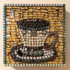 Coffee cup Mosaics, Coffee Cups, Handmade, Coffee Mugs, Hand Made, Mosaic, Coffeecup, Arm Work