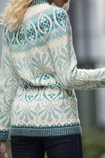 Ravelry: Lily Genser pattern by Trine Lise Høyseth Fair Isle Knitting Patterns, Knitting Stitches, Knitting Designs, Free Knitting, Sock Knitting, Knitting Tutorials, Norwegian Fashion, Norwegian Knitting, Fair Isles