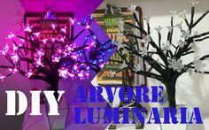 Diy Árvore Luminária com flores de luzes | Imaginarium Inspired| Tatiane...