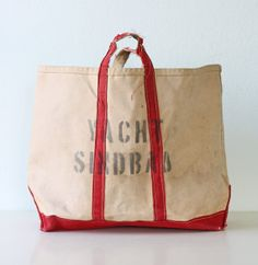 Vintage Nautical Canvas Bag Yacht Sinbad by bellalulu on Etsy