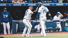 Lovin' a Bautista leadoff HR! Rogers Centre, Samsung, Toronto Blue Jays, Sports, Hs Sports, Excercise, Sport, Exercise