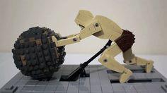 lego Sisyphus sculpture animée