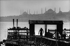 Salacak landing-stage and İstanbul silhouette. (1968) Photo: Ara Güler