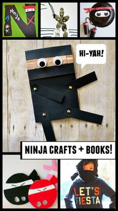 Preschool Ninja Crafts and Book Ideas