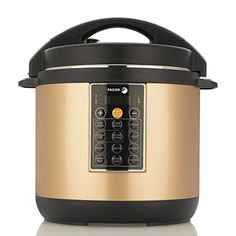 Fagor LUX MultiCooker 6 quart Copper  Electric Pressure Cooker Slow Cooker Rice Cooker Yogurt Maker and more 935010052 *** Read more at the image link.