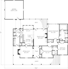 Beautiful one floor house plan. Master bedroom with large walk in closet, large mudroom, walk in pantry, wrap around porch, and study room. Additions would include another bedroom (jack and Jill) at the far right corner of the house.