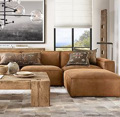 Como Modular Leather L-SectionalYou can find Leather sectional sofas and more on our website.Como Modular Leather L-Sectional Sectional Ottoman, Leather Sectional Sofas, Living Room Sectional, Living Room Furniture, Leather Modular Sofa, Sleeper Sofas, Boho Living Room, Home And Living, Living Room Decor