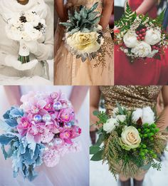 Marry Christmas! ~ Winter Bridal Bouquets