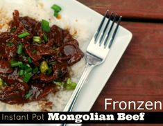 Instant Pot Mongolian Beef is the best Asian beef pressure cooker recipe on the planet! It is so easy, and delicious. One of my top 10 most popular recipes! Beef Recipes, Cooking Recipes, Healthy Recipes, Chicken Recipes, Recipies, Ninja Recipes, Easy Recipes, Family Recipes, Copycat Recipes