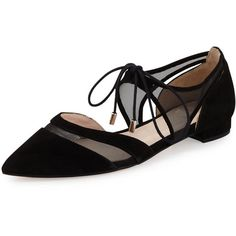 d4194cce5dbb Andre Assous Maddie Pointed-Toe Lace-Up Ballerina Flat