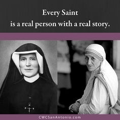 Saints are just like us, but they chose to put God first before themselves. We can all be Saints. Strive for holiness. Register for this year's Catholic Women's Conference happening on Sept. 9th & 10th, 2016. #CWCSanAntonio