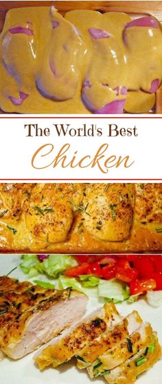 The World's Best Chicken - Best Dinner Recipes - Chicken Recipes Butter Chicken Rezept, Worlds Best Chicken, Quick Chicken Recipes, Best Chicken Dishes, Chicken Meals, Quick Dinner Recipes, Easy Oven Recipes, Lunch Recipes, Drink Recipes