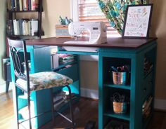 The perfect sewing table! |from The Handbuilt Home