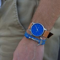 Feeling nautical? Well then the M24 Crosby Blue with Tan Strap ($215 .00) by @miansai is just what you need! You can go the extra mile and add the Anchor bracelet ($60.00) to complete the look.