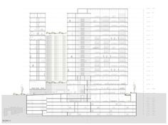 Design competition 2013 for Hotel and Offices building Leuro 2 in Lima, Perú. allende arquitectos & Sánchez Griñán arquitectos, David Lllerena. 1st Prize