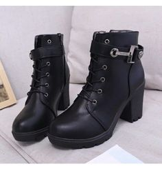 Steampunk Brown Black Punk Style Platform Martin Boots Lace Up Buckle Strap Cool Motorcycle Ankle Boots Woman Sexy Knight