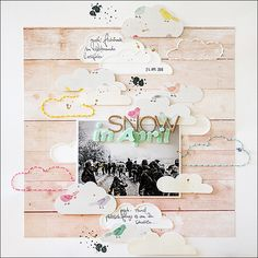 #papercraft #scrapbooking #layout - {snow in april....} by steffinchenb at @studio_calico