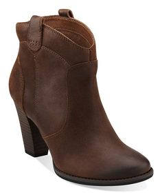 Another great find on #zulily! Cognac Heath Harrier Ankle Boot by Clarks #zulilyfinds