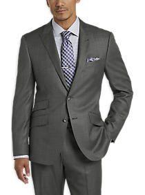 Joseph Abboud Gray Tic Slim Fit Suit