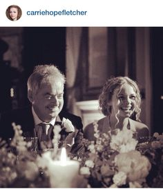 Carrie Fletcher & her dad at Tom & Gi's wedding.