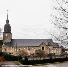 Église St-Even, à La Malhoure. Saint Jean Baptiste, Saint Martin, Chapelle, Mansions, House Styles, Home, Catholic, Manor Houses, Villas