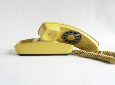 """Someone pinned this as a """"weird and unique phone"""" - I remember talking on phones like this. Didn't think I was that old..."""