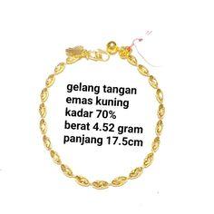 Beli gelang wanita emas kuning kadar 70 poco dari toko emas jfaf tokoemasjfaf - Jakarta Utara hanya di Bukalapak Jakarta