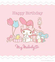 My Melody Happy Birthday My Melody Wallpaper, Sanrio Wallpaper, Iphone Wallpaper, Hello Kitty Images, Pink Hello Kitty, Birthday Love, Happy Birthday Me, Birthday Cakes, Birthday Ideas
