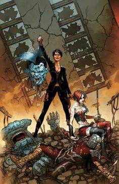 Suicide Squad #29 (New 52 DC Comics), Amanda Waller, Harley Quinn