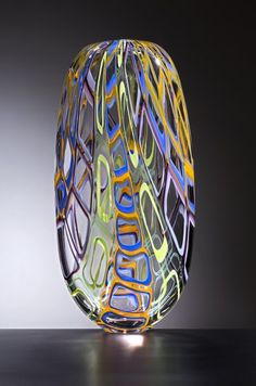 Lino Tagliapietra  - multicolor art glass sculpture entitled 'Contarini'