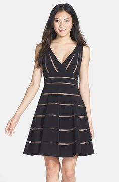 JS Collections 'Ottoman' Sleeveless Fit & Flare Dress available at #Nordstrom  A little pricey and maybe too short but I like this fit and flare