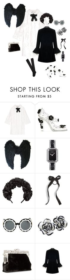 """""""AS SIMPLE AS BLACK & WHITE"""" by thebuzzwithgennybee on Polyvore featuring Gucci, Dolce&Gabbana, Chanel, Cara, Markus Lupfer, Barba and Aéropostale"""