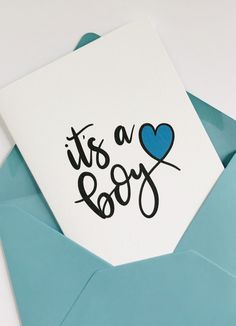 Here's a gorgeous card to celebrate the birth of a new baby boy. Simple and stylish this hand lettered card is sure to delight. Baby Boy Poems, Baby Boy Quotes, Baby Boy Cards, New Baby Cards, World's Cutest Baby, Cute Baby Boy, New Baby Boys, Congratulations Baby Boy, Printable Postcards