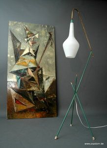 mid century modern floor lamp italian / french