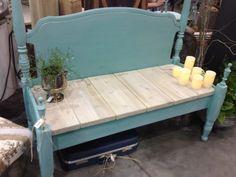 Bedpost bench.